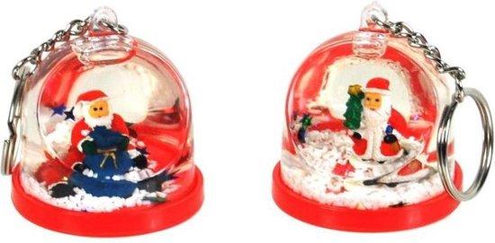 12 stuks sneeuwbol sleutelhanger / uitdeelcadeautjes