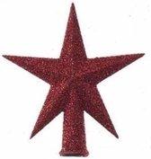 Mini kerstboom piek rood glitter