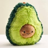 Avocado knuffel -  Pluche avocado - Zachte Fruit Knuffel - Knuffel Speelgoed - Ideaal cadeau voor kinderen - 20 cm