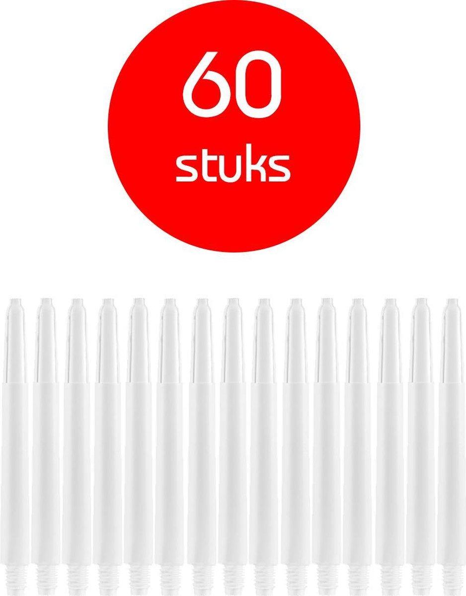 Dragon Darts - darts shafts - 20 sets (60 stuks) - medium - puur-wit - dart shafts - shafts