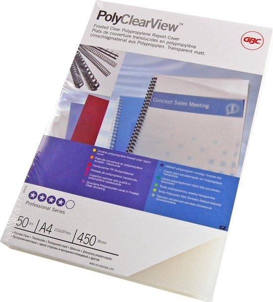 Afbeelding van GBC Omslag A4 Polyclearview 300Mic Helder (100)