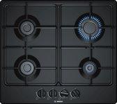 Bosch Serie 4 PGP6B6B80 kookplaat Zwart Ingebouwd Gaskookplaat 4 zone(s)