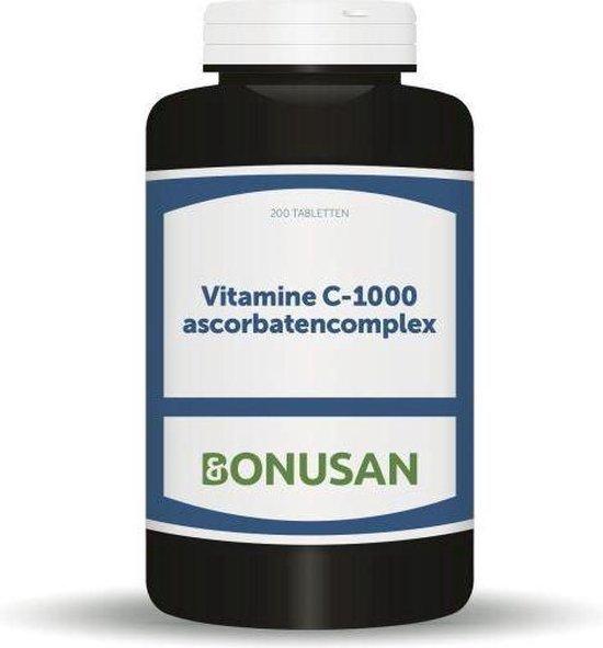 Bonusan Vitamine C 1000MG Ascorbaten - 200 Tabletten