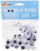 Wiebeloogjes - Sticker/ zwart wit - Googly Eyes - Plakoogjes -Plak Oogjes