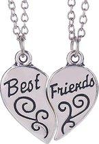 Fako Bijoux® - Vriendschapsketting - Best Friends - Krul - 52cm