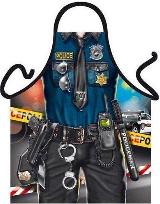 Benza Schort Politie man - Sexy/Leuke/Grappige/Mooie Keukenschort
