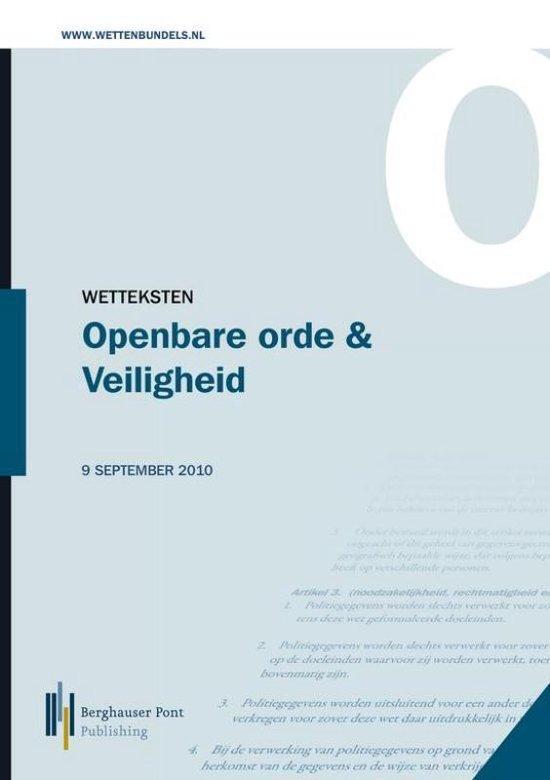 Wetteksten Openbare orde en Veiligheid 2013