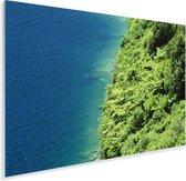 Bovenaanzicht van het Nationaal park Te Urewera Plexiglas 90x60 cm - Foto print op Glas (Plexiglas wanddecoratie)