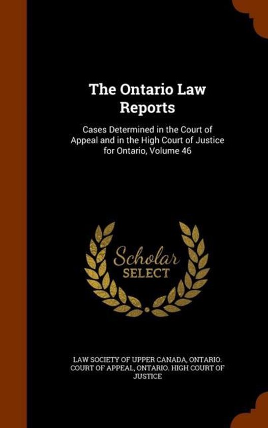 The Ontario Law Reports