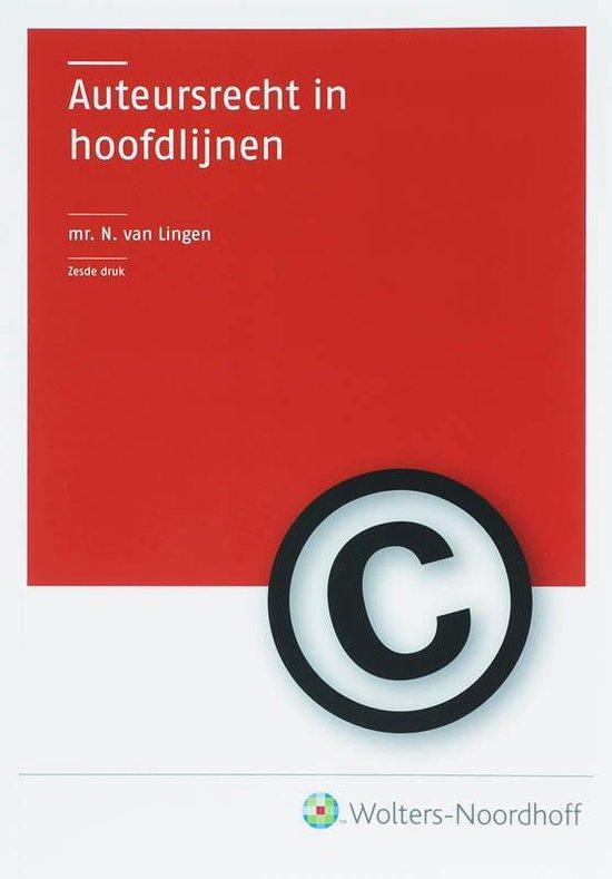 Auteursrecht in hoofdlijnen - N. van Lingen  