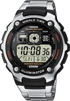Casio Ae-2000Wd-1Avef - Horloge - Staal - Zilverkleurig - Ø 47.7 mm