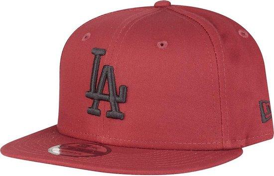 New Era Snapback Cap 9FIFTY Cardinal-Black LA Dodgers Rood