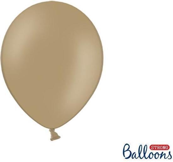 Strong Balloons 27cm, Pastel lichtbruin (1 zakje met 50 stuks) super sterke ballonnen