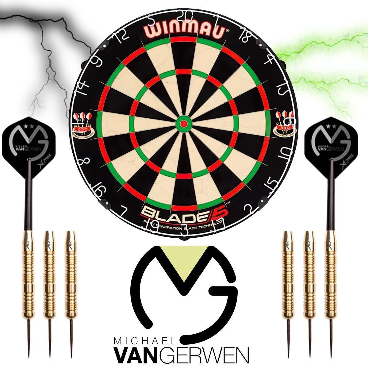 Winmau set - Blade 5 - dartbord - plus 2 sets - Michael van Gerwen dartpijlen - dartpijlen