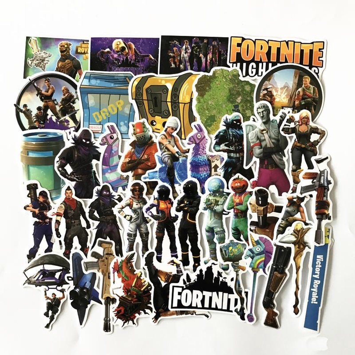 Fortnite stickers - Coole mix met 40 Battle Royale gaming stickers voor laptop, playstation, agenda,