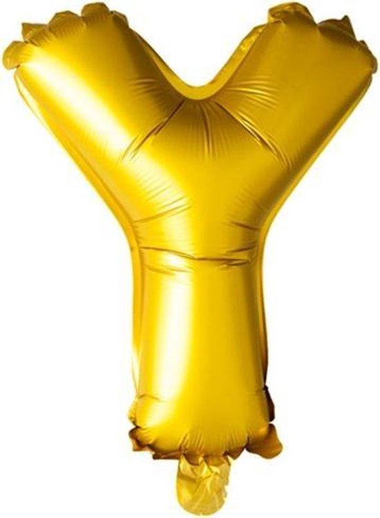 ballon - 100 cm - goud - letter - Y
