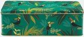 Bewaarblik Toekan - Groen - Rechthoek - Blik - 24 x 10 x 7,8 cm - Sara Miller London