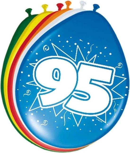8x stuks Ballonnen versiering 95 jaar