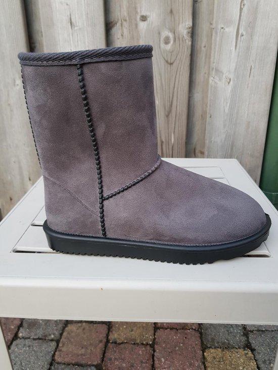 HKM Davos waterproof en bontgevoerde (stal)schoen  grijs maat 42