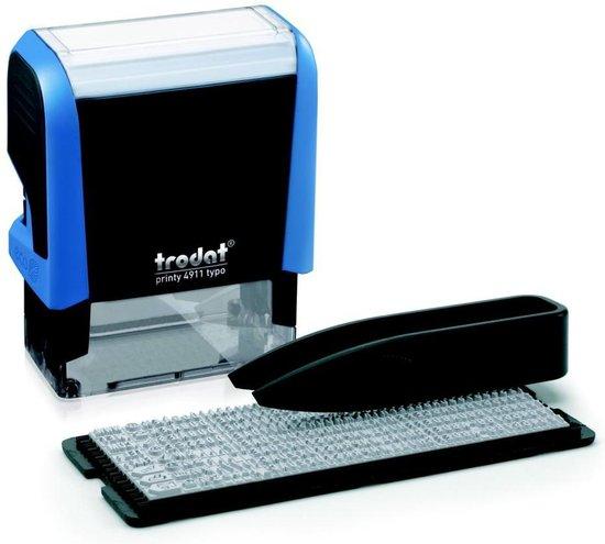 Afbeelding van Trodat Printy 4911 Typomatic 38 x 14 mm blauw montuur, zwart inktkussen speelgoed