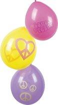 Hippie Ballonnen 25cm 6 stuks