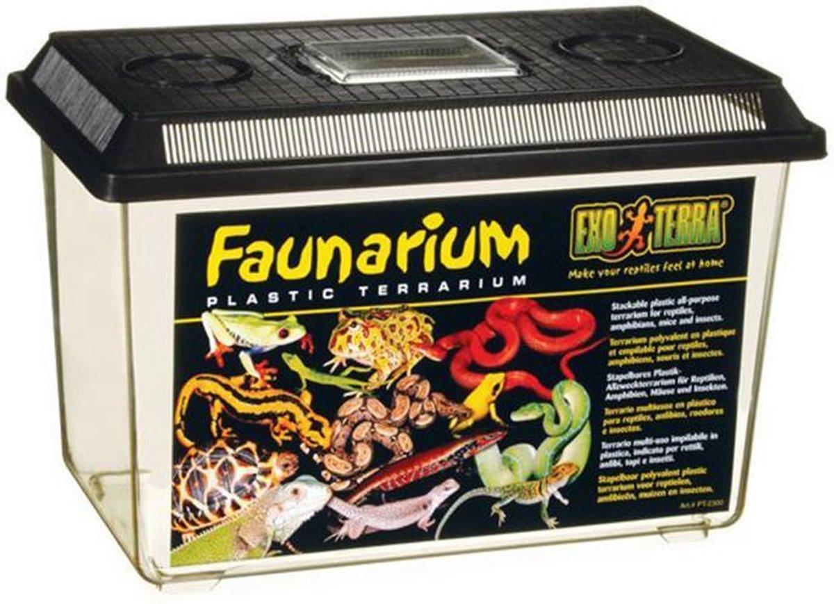 Exo Terra - Faunarium Terrarium Zwart Large - 37 x 22 x 25 cm