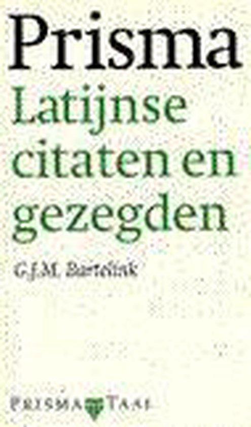 Latijnse citaten en gezegden - G.J.M. Bartelink |
