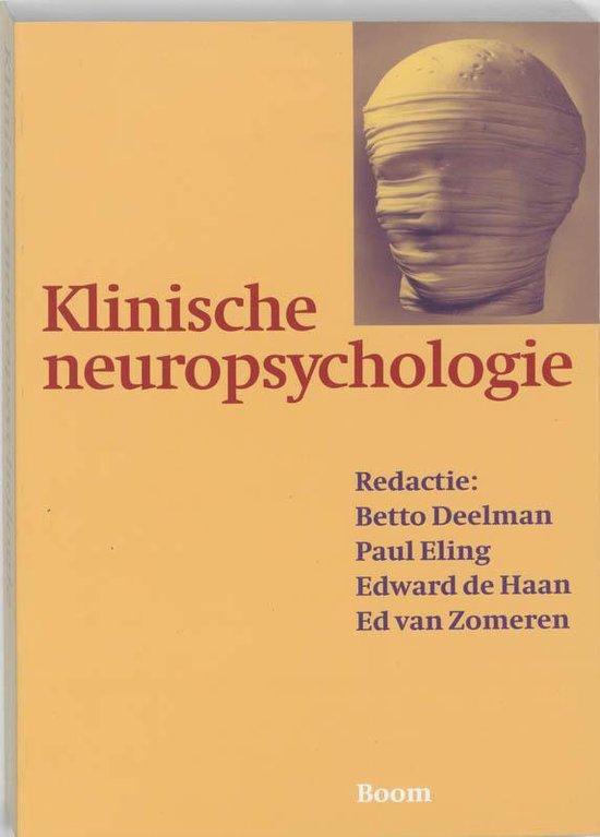 Klinische neuropsychologie - B. Deelman  