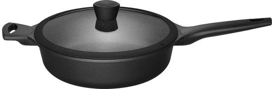 Sola Fair Cooking hapjespan - 28 cm - Zwart - Met deksel