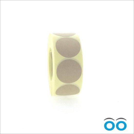 Afbeelding van Kraft Sticker rond 35 mm - rol van 1000 stuks