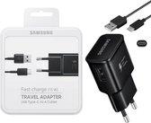 Originele Samsung Galaxy S8 USB-C Adaptive Snellader kleur : ZWART