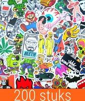 200 Stickers stickerbomb   Hoge kwaliteit Vinyl Volwassenen Macbook Laptop ST03