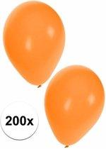 Oranje ballonnen 200 stuks