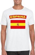 Spanje t-shirt met Spaanse vlag wit heren 2XL