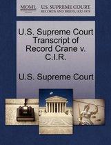 U.S. Supreme Court Transcript of Record Crane V. C.I.R.