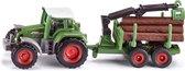SIKU 1645 Tractor met Aanhanger