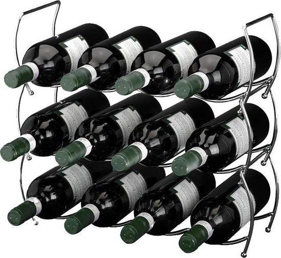 Ceruzo Stapelbaar wijnrek –  12 flessen – 3 delig