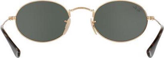 Ray Ban RB3547N 001 Oval (Flat) zonnebril Goud Groen Klassiek G 15 51mm