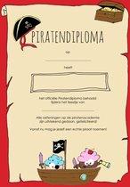 Piraten diploma's - kinderfeestje - diploma Piraat - 8 stuks