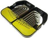 Sleutel torx en inbus set sleutelset in stevige doos 18 delig Tools KORT