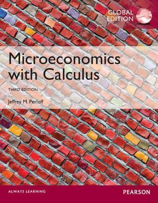 Boek cover Microeconomics with Calculus, Global Edition van Jeffrey M. Perloff