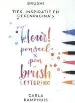 """Ecoline """"Primary"""" Brushpennen set van 5 in een Zipperbag + Boek Brush!"""