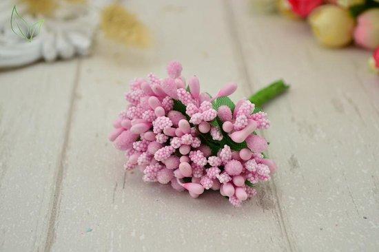 Bol Com 120 Stuks Bloemenset Nepbloemen Decoratie Mini Bloemen Roze Planten