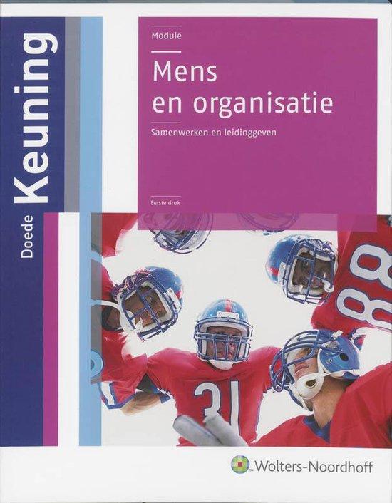 Mens en organisatie - David Keuning   Fthsonline.com