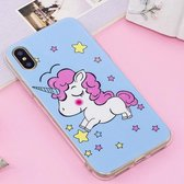 Let op type!! For iPhone X Noctilucent IMD Horse Pattern Soft TPU Back Case Protector Cover