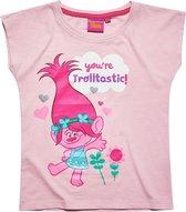 Trolls-T-shirt-met-korte-mouw-fuchsia - Maat 152