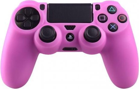 Silicone Beschermhoes voor PS4 Controller – Cover Skin Roze