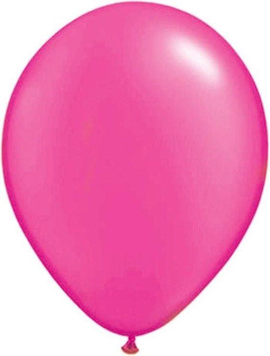 Neon roze ballonnen 100 stuks