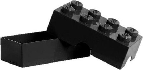 Lego Classic Lunchbox - Brick 8 - Zwart