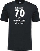 Mijncadeautje - Leeftijd T-shirt - Het duurde 70 jaar - Unisex - Zwart (maat 3XL)